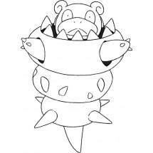 Coloriage Pokémon Méga-Flagadoss