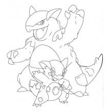 Coloriage Pokémon Méga-Kangourex