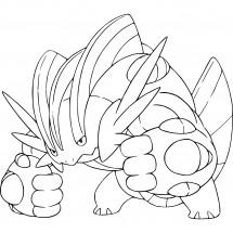 Coloriage Pokémon Méga-Laggron