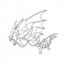 Coloriage Pokémon Méga-Léviator