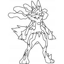 Coloriage Pokémon Méga-Lucario