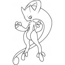 Coloriage Pokémon Méga-Mewtwo Y