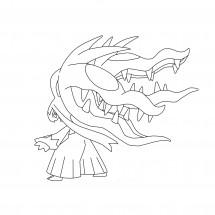 Coloriage Pokémon Méga-Mysdibule