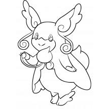 Coloriage Pokémon Méga-Nanméouïe