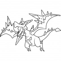 Coloriage Pokémon Méga-Ptéra