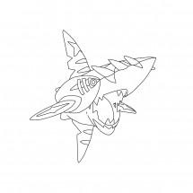 Coloriage Pokémon Méga-Sharpedo