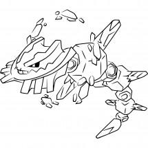 Coloriage Pokémon Méga-Steelix