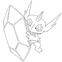 Coloriage Pokémon Méga-Ténéfix
