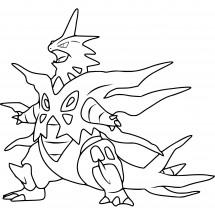 Coloriage Pokémon Méga-Tyranocif
