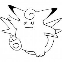 Coloriage Pokémon Mélodelfe