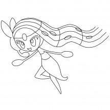 Coloriage Pokémon Meloetta forme Chant