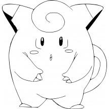 Coloriage Pokémon Mélofée