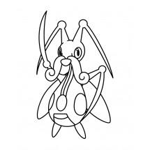 Coloriage Pokémon Mélokrik
