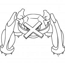 Coloriage Pokémon Métalosse