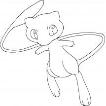 Coloriage Pokémon Mew