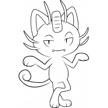 Coloriage Pokémon Miaouss d'Alola