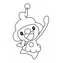 Coloriage Pokémon Mime Jr