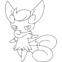 Coloriage Pokémon Mistigrix Femelle