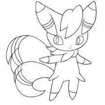 Coloriage Pokémon Mistigrix Mâle