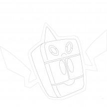 Coloriage Pokémon Motisma Froid
