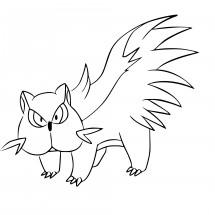 Coloriage Pokémon Moufouette