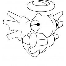 Coloriage Pokémon Munja