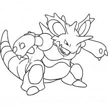 Coloriage Pokémon Nidoking