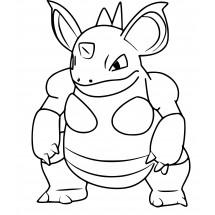 Coloriage Pokémon Nidoqueen