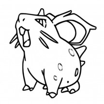 Coloriage Pokémon Nidoran Fille