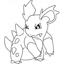 Coloriage Pokémon Nidorina
