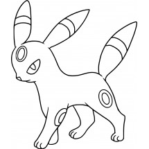 Coloriage Pokémon Noctali