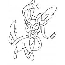 Coloriage Pokémon Nymphali
