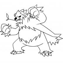 Coloriage Pokémon Pandarbare