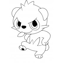 Coloriage Pokémon Pandespiègle