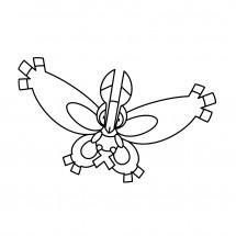 Coloriage Pokémon Papilord