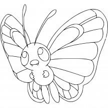 Coloriage Pokémon Papilusion