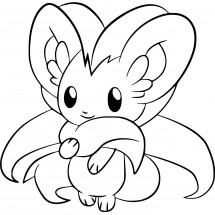 Coloriage Pokémon Pashmilla