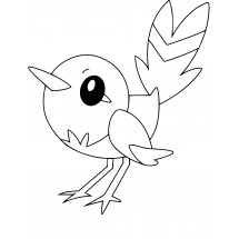 Coloriage Pokémon Passerouge