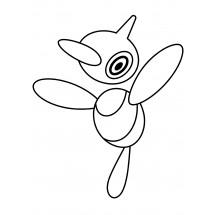 Coloriage Pokémon Porygon-Z