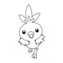 Coloriage Pokémon Poussifeu