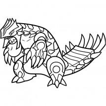 Coloriage Pokémon Primo-Groudon