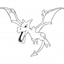 Coloriage Pokémon Ptéra