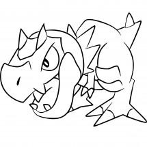 Coloriage Pokémon Ptyranidur
