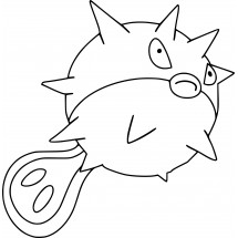 Coloriage Pokémon Qwilfish