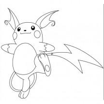 Coloriage Pokémon Raichu