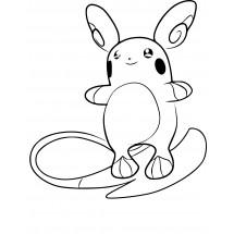 Coloriage Pokémon Raichu d'Alola