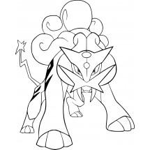 Coloriage Pokémon Raikou