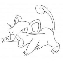 Coloriage Pokémon Rattata
