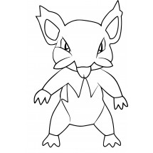 Coloriage Pokémon Rattata d'Alola