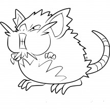 Coloriage Pokémon Rattatac d'Alola